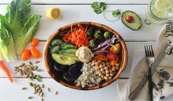 légumes assiette vie saine